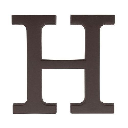 Litera H wys. 9 cm PVC brązowa