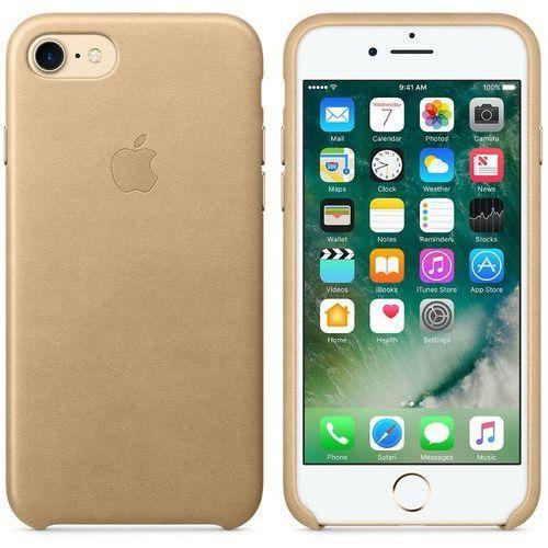 leather case - skórzane etui iphone 7 (beżowy) marki Apple