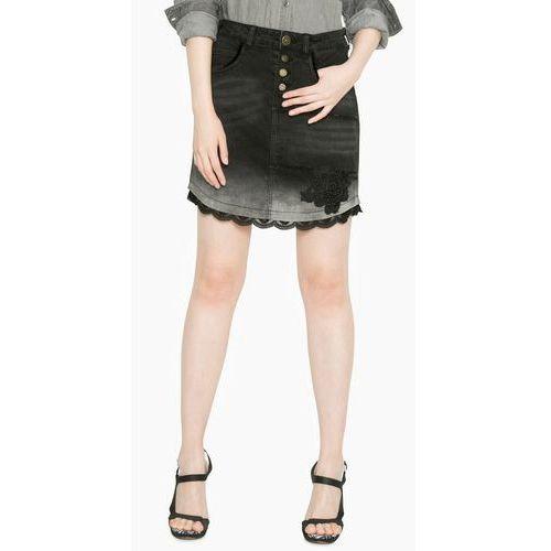 Desigual spódnica damska Blanche 30 czarny, w 3 rozmiarach