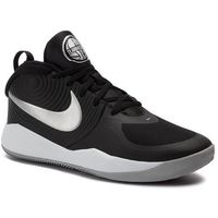 Buty - team hustle d 9 (gs) aq4224 001 black/metalic silver marki Nike