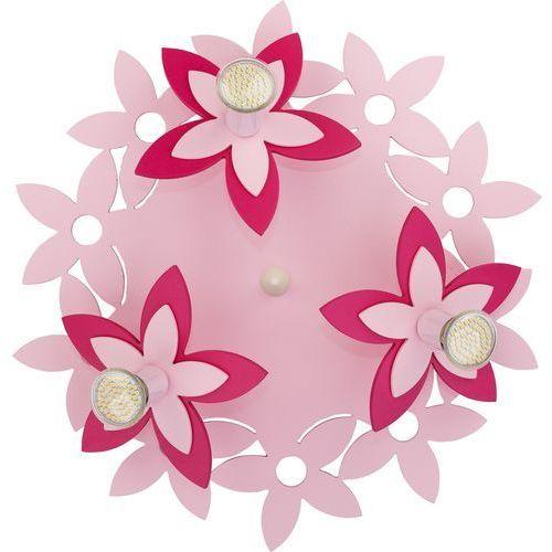 Plafon Nowodvorski Flowers 6895 kwiatki lampa sufitowa 3x35W GU10 różowy (5903139689595)