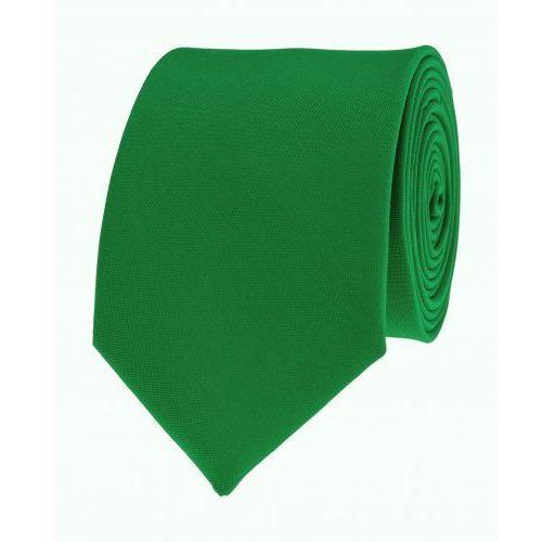 Krawat gładki jednokolorowy zielony wąski śledź VIP