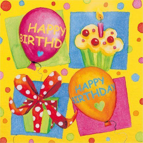 Serwetki happy birthday 33x33cm 20szt - happy birthday party marki Pelikan