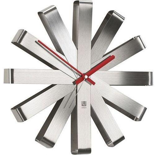 Zegar ścienny Ribbon stalowy, kolor szary