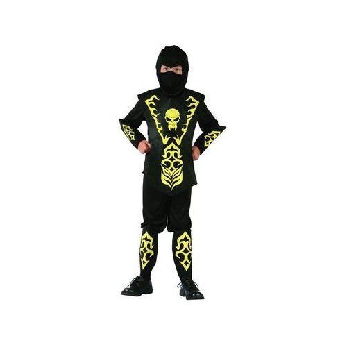 Kostium Ninja żółty z czaszką - M - 120/130 cm, STZNC-LU120