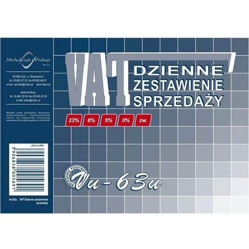 Dzienne zestawienie sprzedaży vat a-6 vu-63u marki Michalczyk i prokop