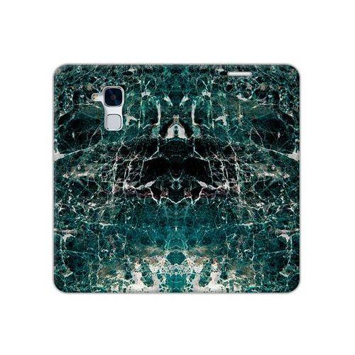 Etuo flex book fantastic Huawei honor 5c - etui na telefon flex book fantastic - zielony marmur