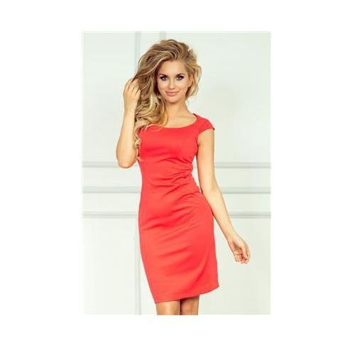 Sukienka model 53-2 dark coral marki Numoco