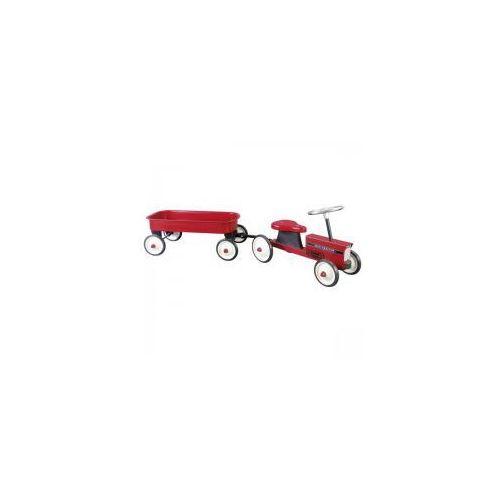 Goki Traktor dla dzieci z przyczepką,