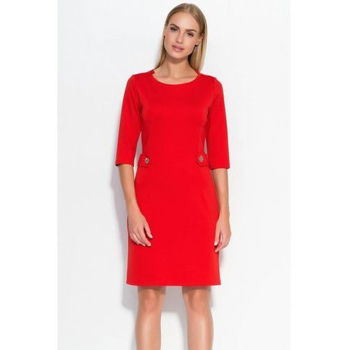 Sukienka model m325 red, Makadamia