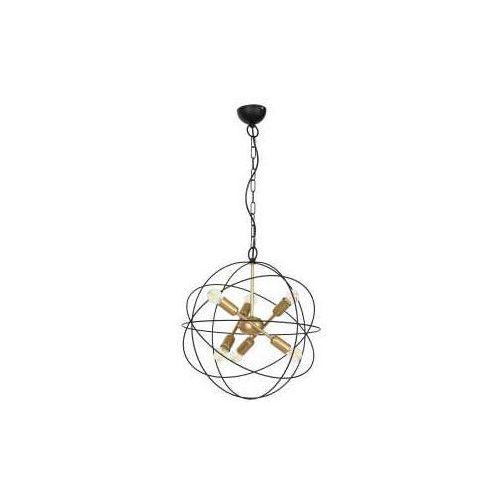 Luminex Copernicus 1099 lampa wisząca zwis 6x60W E14 czarny / złoty