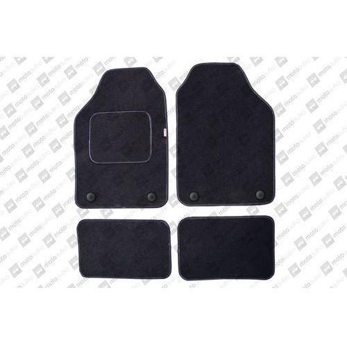 Komplet dywaników welurowych miarowych czarne - Fiat Ulysse (II) 2002-2010, 5osob.