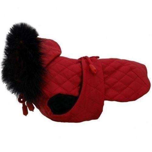 Derka czerwona pikowana z futrem r.3/27cm