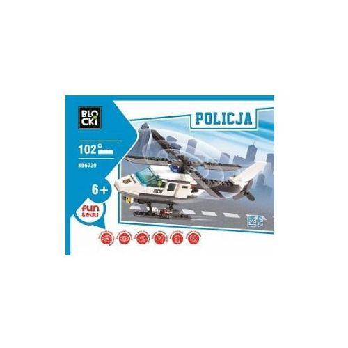 Klocki blocki policja helikopter 102 elementy marki Icom