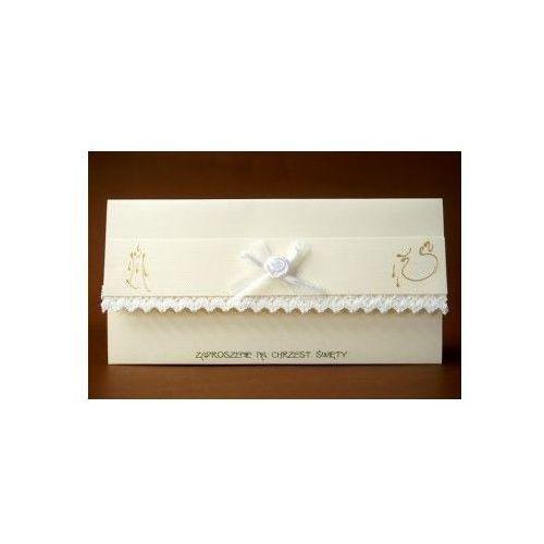 Zaproszenie na Chrzest Święty - Karnet z kopertą w kolorze ecri z kategorii Dewocjonalia