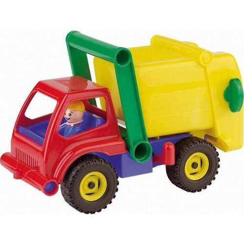 Kolorowa śmieciarka, pojazd, 30 cm