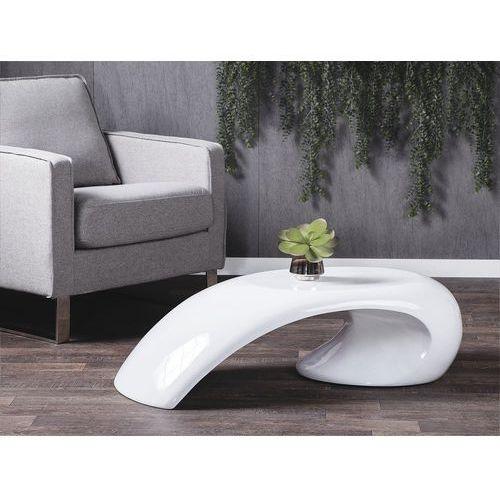 Beliani Stolik kawowy – biały – stół – ława – włókno szklane - elatus (7081455642093)