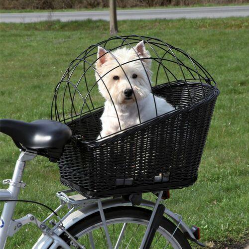 Trixie Kosz wiklinowy na bagażnik rowerowy czarny, MS_11624