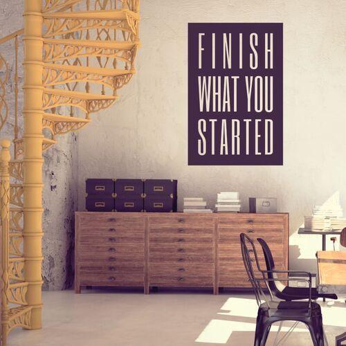 Szablon do malowania sentencja Finish what you started 2425