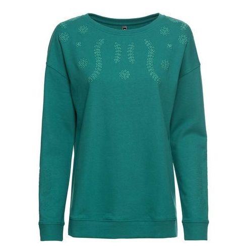 Bluza z kapturem jasnoszary melanż z nadrukiem, Bonprix, 32-34