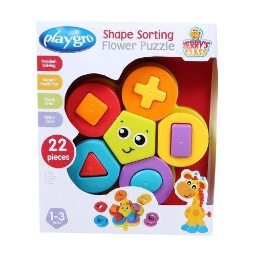 PLAYGRO Układanka puzzle kwiatuszek z kształtami z kategorii Puzzle