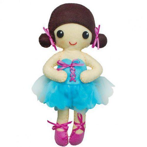 Lalka baletnica Wiktoria niebieska sukienka