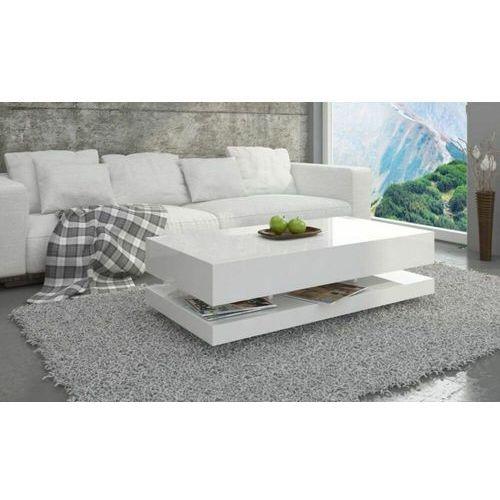 Mato design Stolik tora 120cm biały wysoki połysk