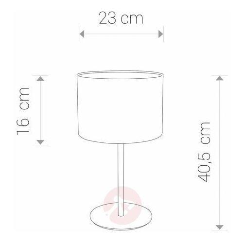 Nowodvorski Alice Coffee 9088 Lampka biurkowa 1x60W E27 czarna/kawowa (5903139908894)