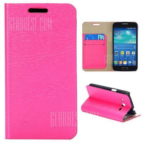 Card Slot Magnetic Flip Stand Leather Case for Samsung Galaxy Core 4G TD - LTE G3518 G386F (Futerał telefoniczny)