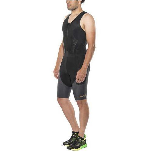 Skins dnamic triathlon mężczyźni with front zip czarny l 2018 pianki do pływania