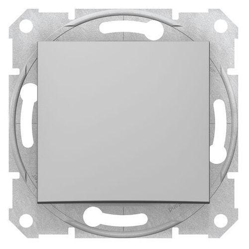 Schneider electric Sedna łącznik schodowy schneider podtynkowy pojedynczy bez ramki aluminium sdn0400460