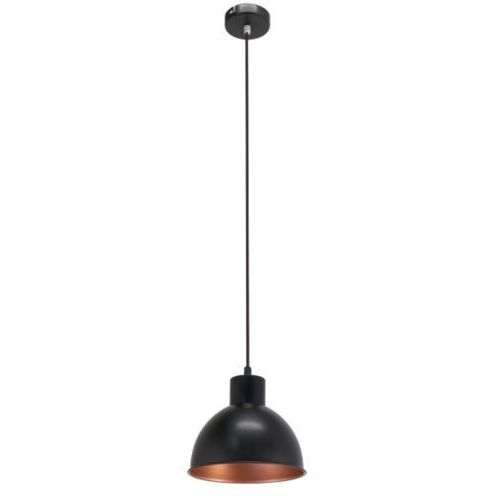 Lampa wisząca vintage truro 1 czarna, 49238 marki Eglo