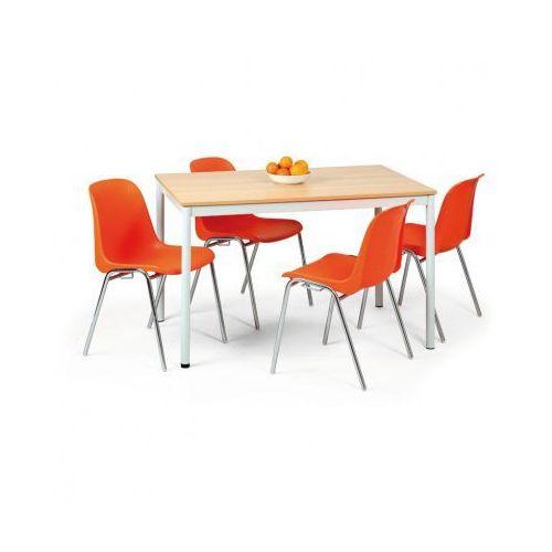 Stół kuchenny - okrągłe nogi, jasnoszara konstrukcja marki B2b partner