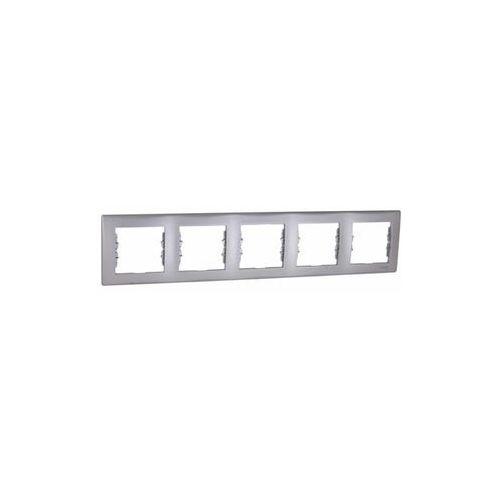 Schneider electric Sedna ramka 5 pięciokrotna pozioma aluminium sdn5800960 schneider
