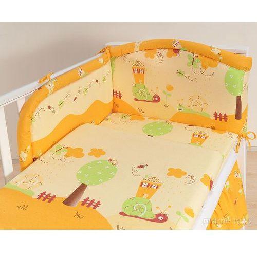 pościel 3-el ślimaki pomarańczowe do łóżeczka 70x140cm marki Mamo-tato