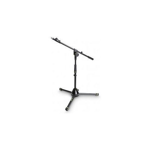 Gravity MS 4212 B - statyw mikrofonowy, Short Microphone Stand With Folding Tripod Base And 1-Point Adjustment Telescoping Boom
