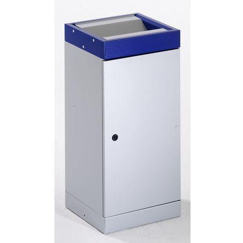 Pojemnik na surowce wtórne z pokrywą uchylną, pojedynczy, pojemność: 70 l, kolor marki Stumpf-metall