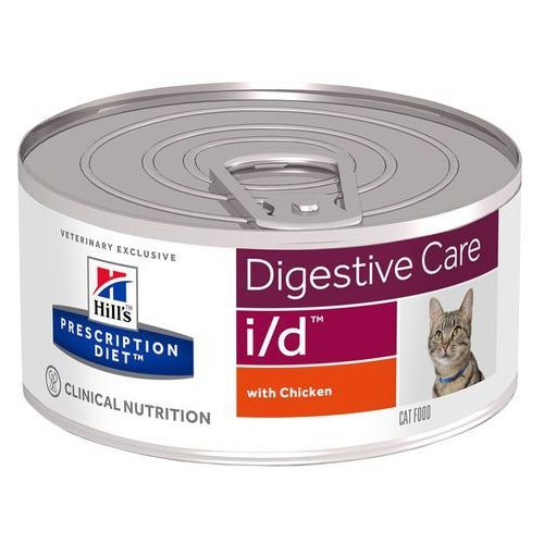 Hills prescription diet feline i/d digestive care, kurczak - 12 x 156 g (0052742462806)