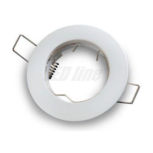 Oprawa halogenowa sufitowa okrągła stała, odlew stopu aluminium- biała matowa marki Led line