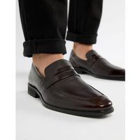 wing tip loafers in oxblood leather - red, Dune