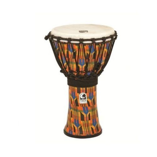 Toca (TO803214) Djembe Freestyle Rope Tuned Kente Cloth
