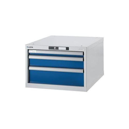 Stół warsztatowy w systemie modułowym, szafka dolna,wys. 383 mm, 3 szuflady marki Lista