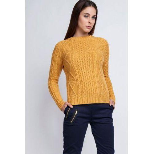 MKM Candice SWE 042 żółty Sweter, kolor żółty
