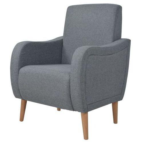 Vidaxl fotel tapicerowany jasnoszary