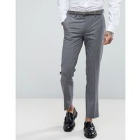 Harry Brown Slim Fit Grey Tonic Suit Trousers - Grey, kolor szary