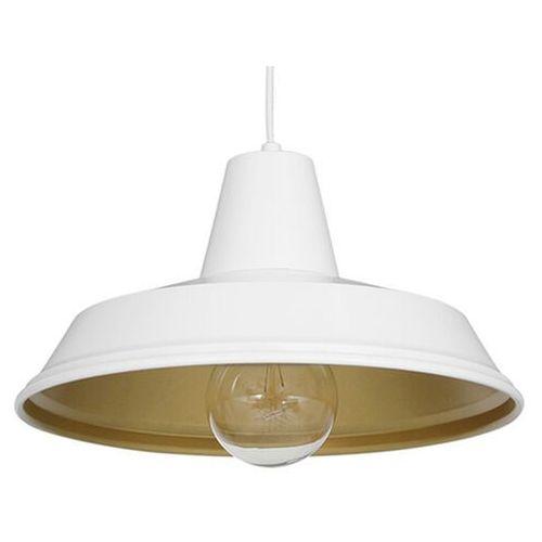 Lampa wisząca zwis żyrandol Luminex Class 1x60W E27 biały/złoty 4031