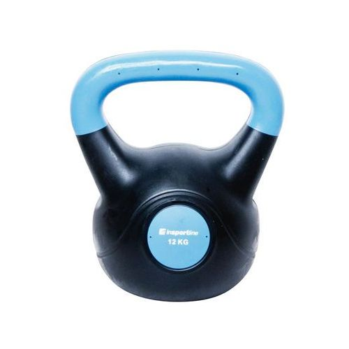 Insportline Hantla bitumiczna kettlebell dark 12 kg