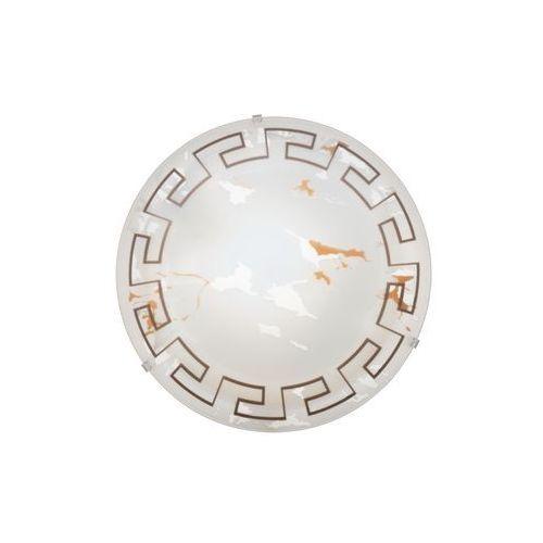 Plafon Eglo Twister 82877 lampa oprawa ścienna sufitowa 1x60W E27 biały/brąz (9002759828776)
