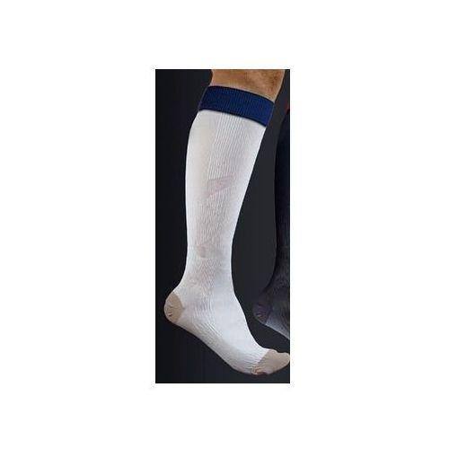 Antistress (włochy) Podkolanówki sportowe kompresyjne medyczne z tlenkiem miedzi active effect sport - unisex (ucisk i klasy 21mmhg) - antistress - kolor biały