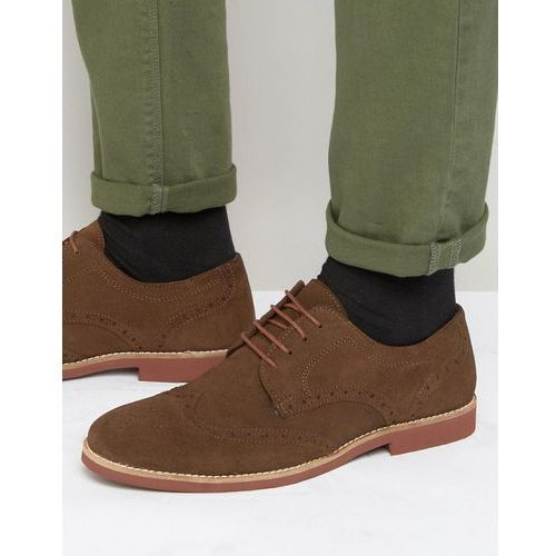 brogues in brown suede - brown marki Red tape